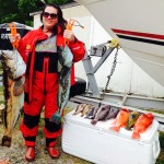Deana Davies had a great time on Pacific Pond on 7/12. The big Lingcod was 30 pounds.